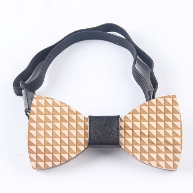 Handmade Wooden Bow Ties - Select Style