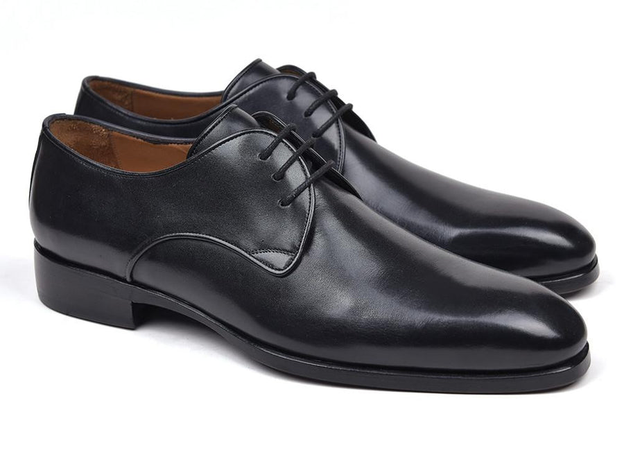 Paul Parkman Men's Black Leather Derby Shoes EU 38 - US 6