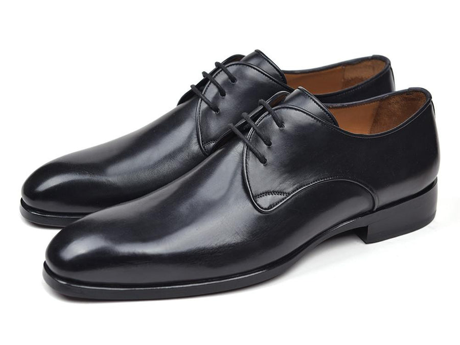 Paul Parkman Men's Black Leather Derby Shoes EU 40 - US 7.5