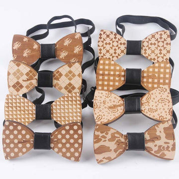 Handmade Wooden Bow Ties - Select Style 8