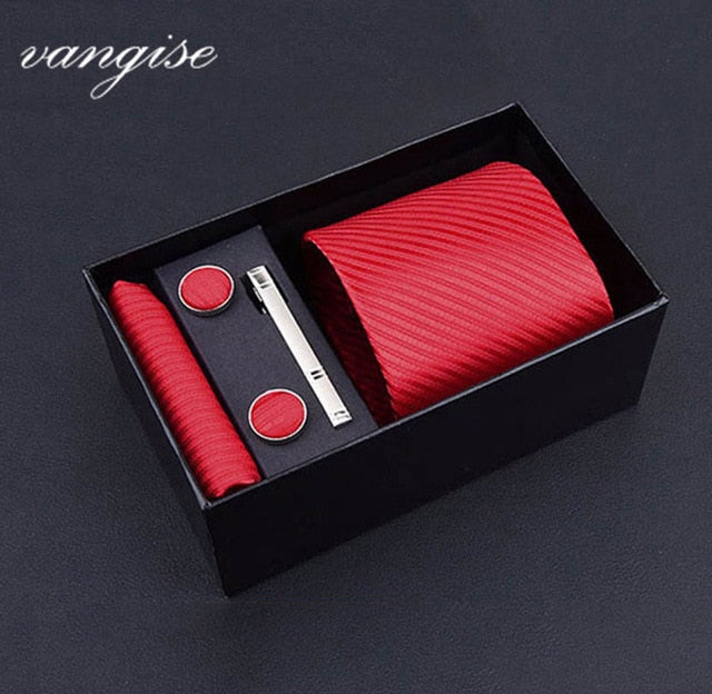 Tie Set with Cufflinks and Tie Bar - Select Style A8028