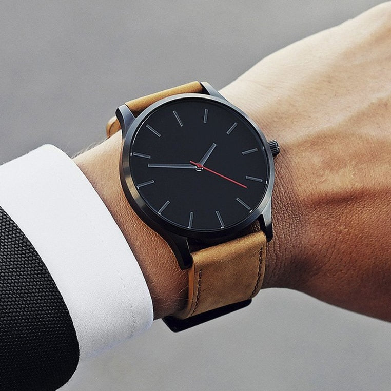 Leather Quartz Watch
