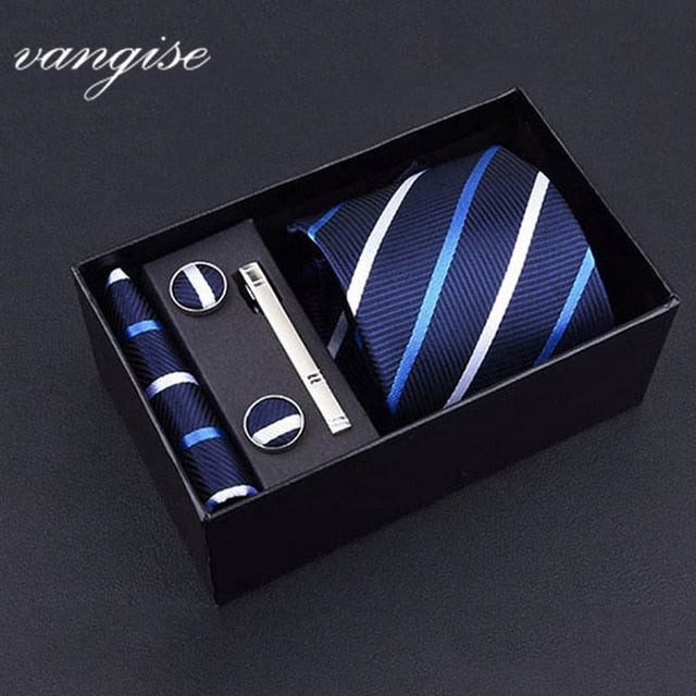 Tie Set with Cufflinks and Tie Bar - Select Style A8031