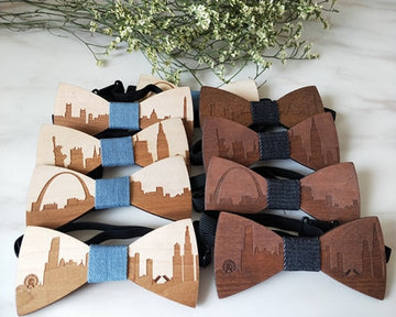 Handmade Wooden Bow Ties - Select City 6