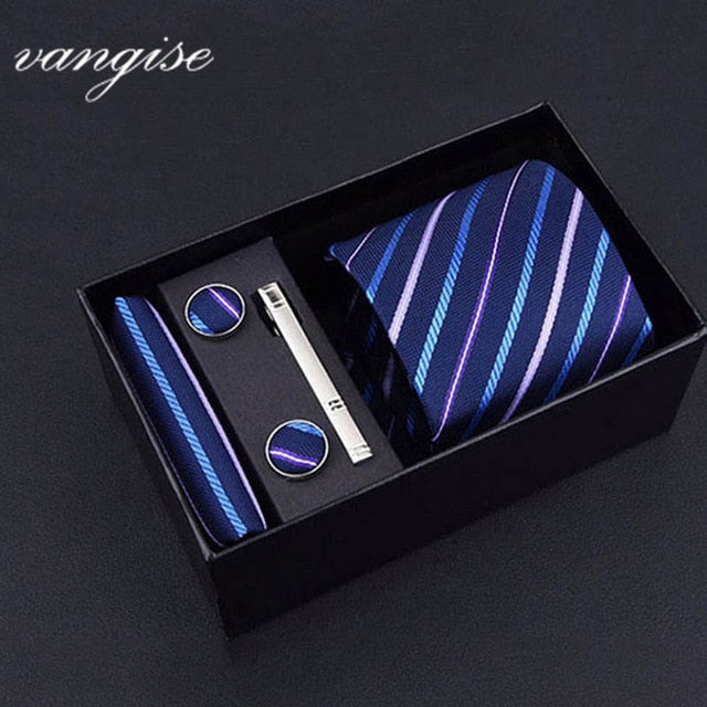 Tie Set with Cufflinks and Tie Bar - Select Style A8020