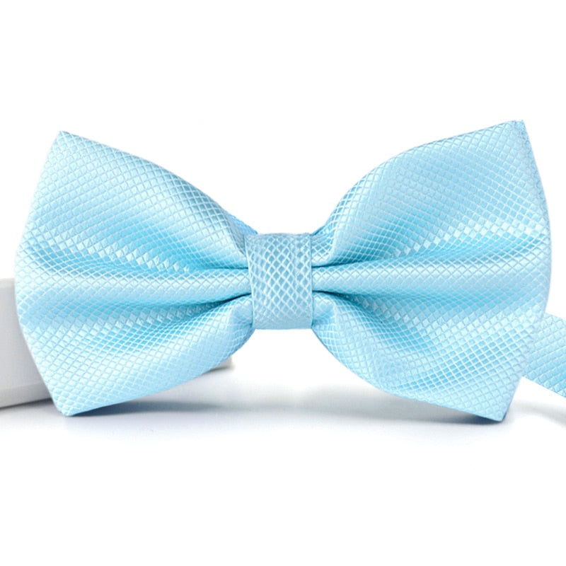 Formal Wear Solid Bow Ties a08 White