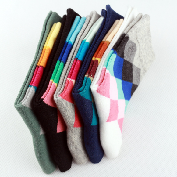 Argyle Socks - Set of 10