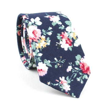 Rose Floral Neckties MAROON