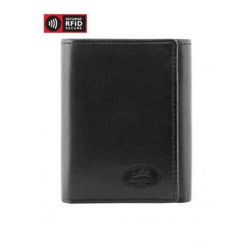 Men's RFID Secure Trifold Wing Wallet Black
