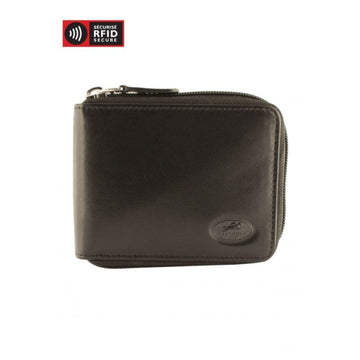 RFID Secure Men's Zippered Wallet