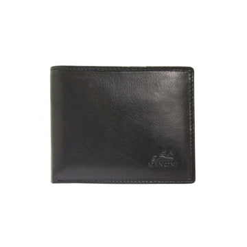 Men's RFID Secure Wallet with Removable Passcase and Coin Pocket Black