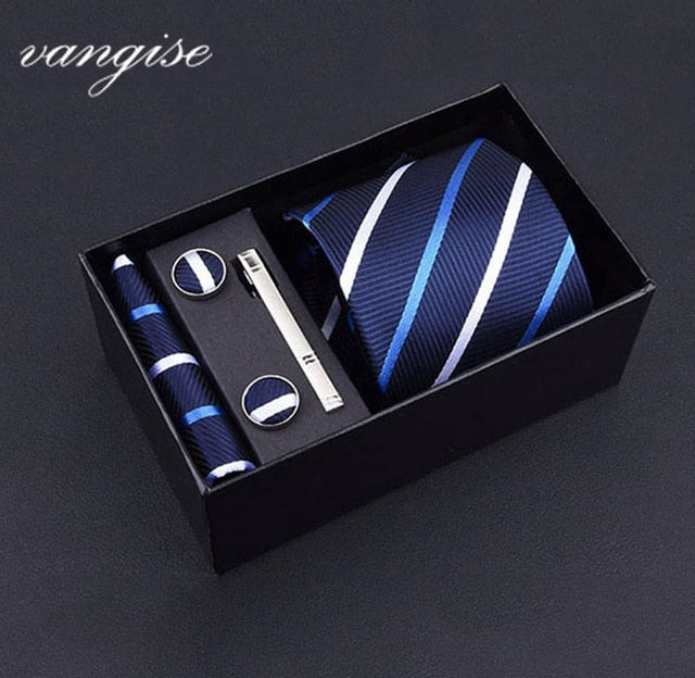 Tie Set with Cufflinks and Tie Bar - Select Style A8016