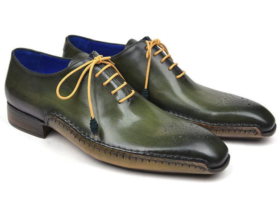 Paul Parkman Opanka Construction Oxfords Green '-----