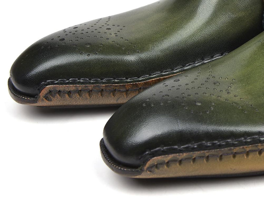 Paul Parkman Opanka Construction Oxfords Green EU 39 - US 6.5 / 7