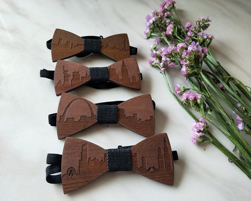 Handmade Wooden Bow Ties - Select City