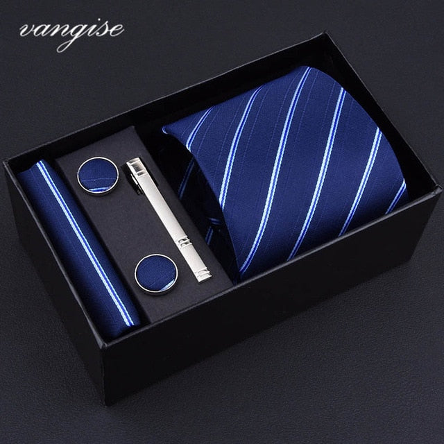 Tie Set with Cufflinks and Tie Bar - Select Style A8018