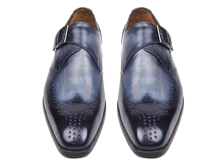 Paul Parkman Wingtip Single Monkstraps Navy EU 39 - US 6.5 / 7