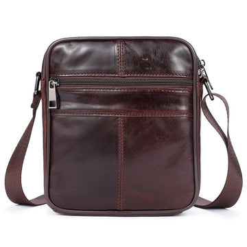 100% Leather Men's Messenger Bag 2