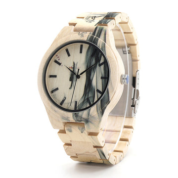 Mens Watch Ink Painting Design All Maple