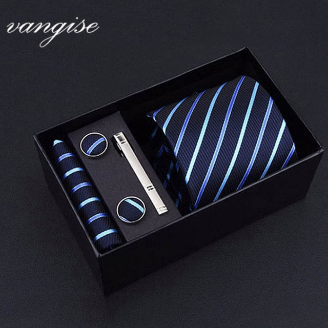 Tie Set with Cufflinks and Tie Bar - Select Style A8033