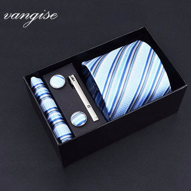Tie Set with Cufflinks and Tie Bar - Select Style