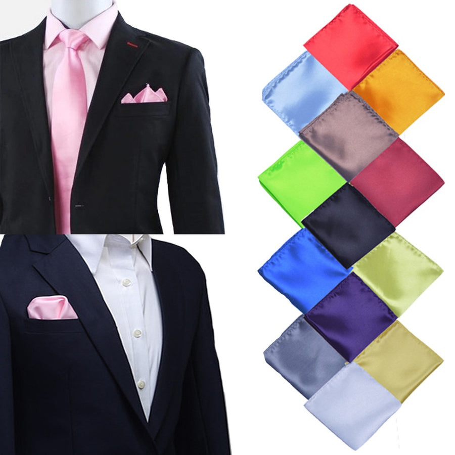 Formal Satin Pocket Squares - Select Style silver