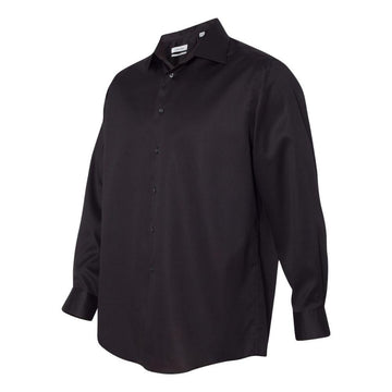 Calvin Klein - Non-Iron Micro Pincord Long Sleeve Shirt (Black)