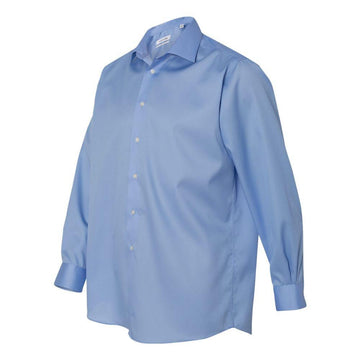 Calvin Klein - Non-Iron Micro Pincord Long Sleeve Shirt (Blue)