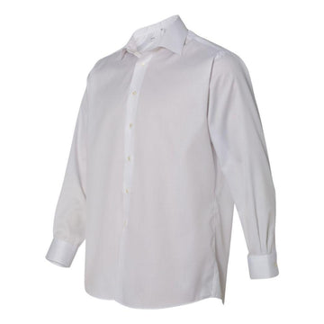 Calvin Klein - Non-Iron Micro Pincord Long Sleeve Shirt (White)
