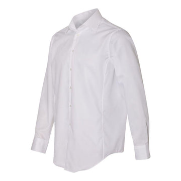 Calvin Klein - Slim Fit Non-Iron Dobby Pindot Shirt (White)