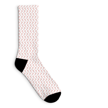 Candy Cane Socks Sublimated Crew Sock