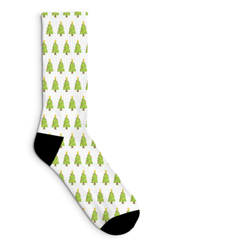 Christmas Tree Socks Sublimated Crew Sock