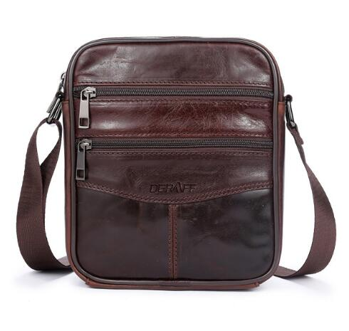 100% Leather Men's Messenger Bag