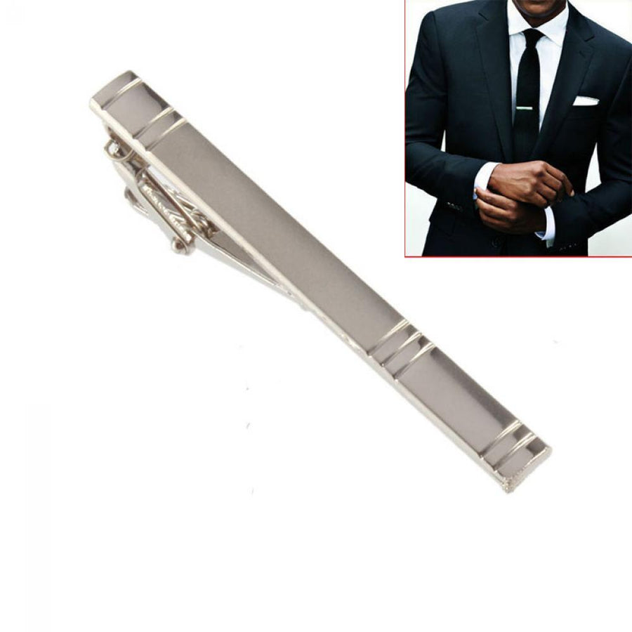 Simple Lined Tie Bar