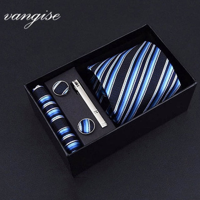 Tie Set with Cufflinks and Tie Bar - Select Style A8040