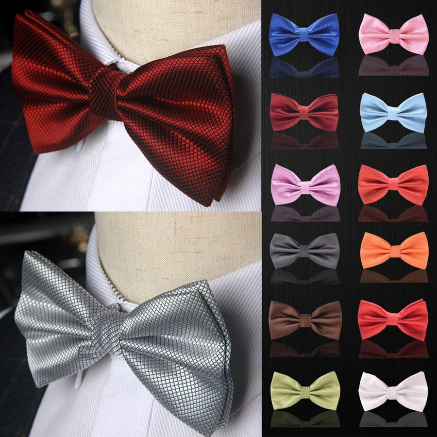 Formal Wear Solid Bow Ties a07 Light Yellow