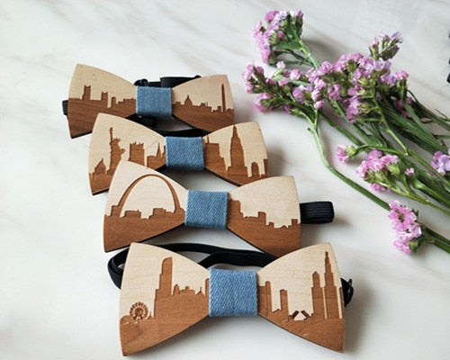 Handmade Wooden Bow Ties - Select City 7