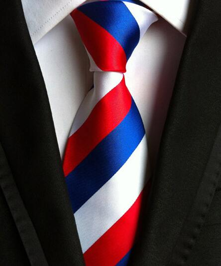 100% Silk Jacquard Bold Striped Necktie