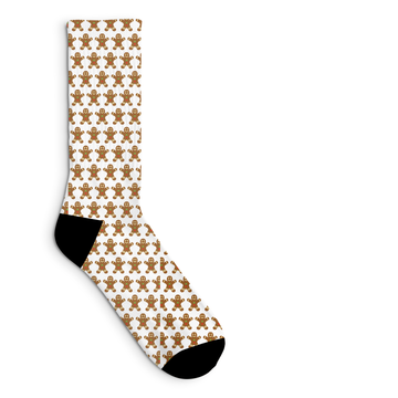 Gingerbread Man Socks Sublimated Crew Sock