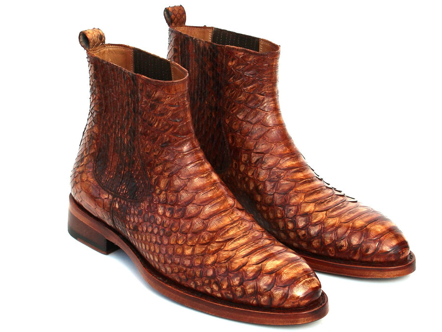 Paul Parkman Goodyear Welted Python Boots Brown '-----