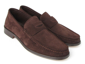 Paul Parkman Brown Suede Penny Loafers EU 42 - US 9 / 9,5