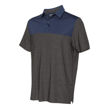 IZOD - Colorblocked Space-Dyed Sport Shirt (Asphalt-Navy)