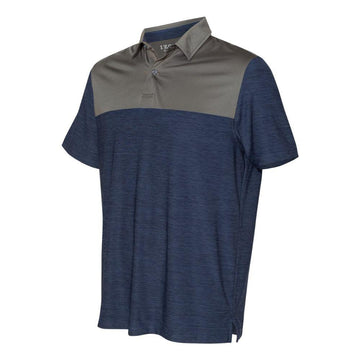 IZOD - Colorblocked Space-Dyed Sport Shirt (Club Blue-Smoked Pearl)