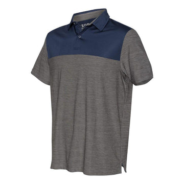 IZOD - Colorblocked Space-Dyed Sport Shirt (Light Grey-Navy)