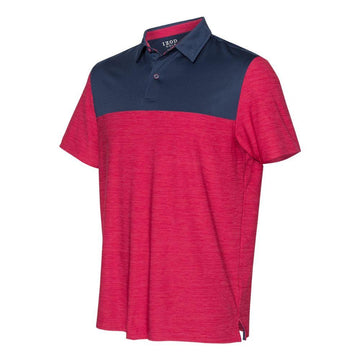 IZOD - Colorblocked Space-Dyed Sport Shirt (Persian Red-Navy)
