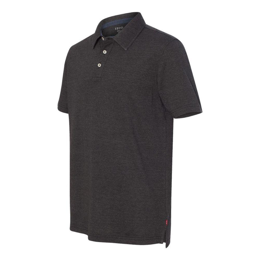 IZOD - Heather Jersey Sport Shirt (Black Heather)
