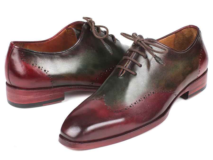 Paul Parkman Bordeaux & Green Wingtip Oxfords EU 38 - US 6