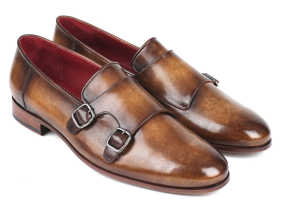 Paul Parkman Men's Double Monkstraps Olive '-----