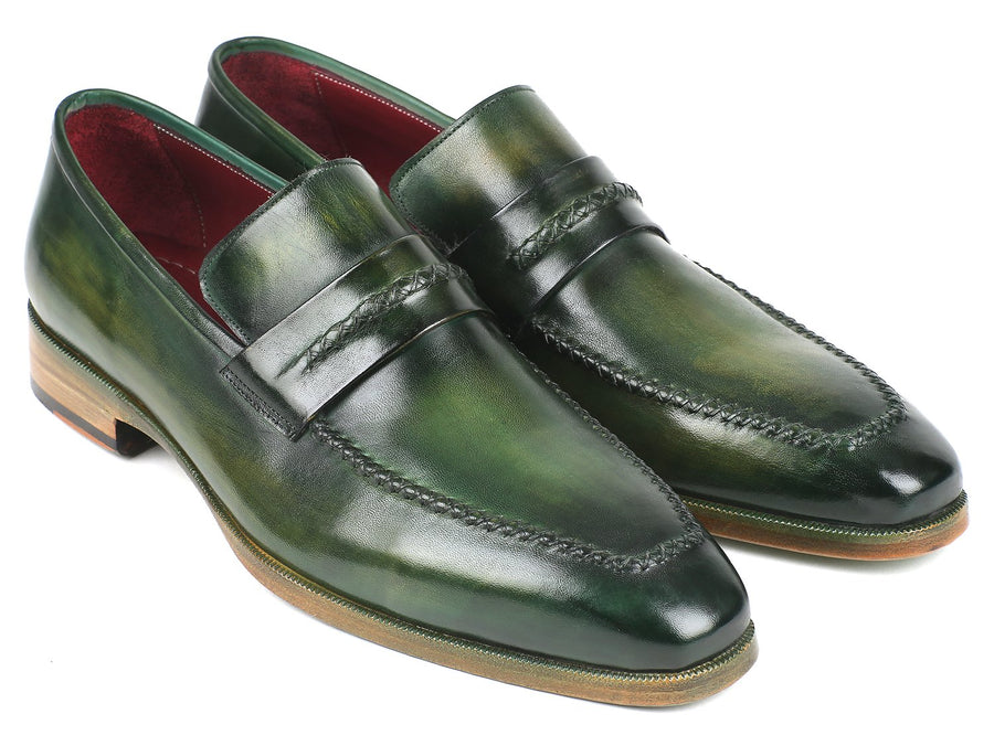 Paul Parkman Men's Loafer Shoes Green