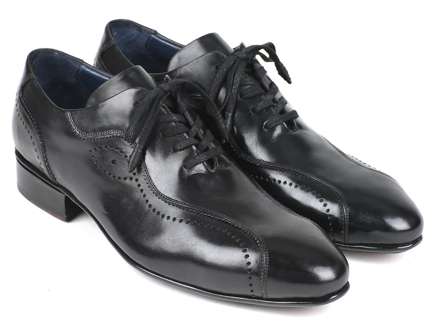 Paul Parkman Handmade Lace-Up Casual Shoes For Men Black '-----
